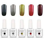 Gelpolish Nail Art Soak Off UV Nail Gel Polish Color Gel Manicure Kit 5 Colors Set S117
