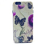 Butterfly and Flower Pattern Hard Case Cove for iPhone 6