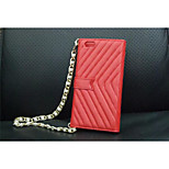 Long Chain Wallet Style PU Flip Leather Case for iPhone 6 5.5''
