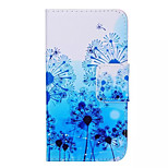 Blue Dandelion Pattern Quality PU Material  Leather for Nokia 640