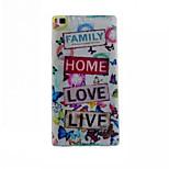 I Love Life Pattern Slim TPU Phone Case for Huawei P8