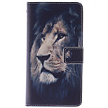 Fashion Design COCO FUN® Black Lion Pattern PU Leather Wallet Case Cover for LG G3
