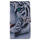 Fashion Design COCO FUN® White Tiger Pattern Wallet Slot Full Body PU Leather Case for LG G4