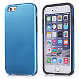 Super Protection 2 in1  Slim Hybrid High Impact Hard Silicone Case for iPhone  6 Plus (Assorted Color)