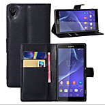 Litchi Around Open Bracket Leather Phone Wallet Card Suitable for Sony Xperia Z1(Assorted Color)