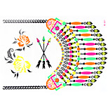 1 PC Fluorescent Color Necklace Tattoos Stickers  for Body Makeup W327