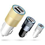 Metal Plus Single-USB 1A/2.1A Output Trumpet Shape Car Cigarette Power Charger
