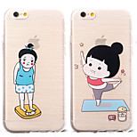 Fitness Obesity Girl Pattern TPU Soft Case for iPhone 6