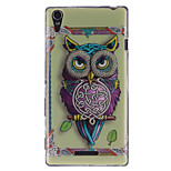 Personality Owls Pattern TPU Soft Case for Sony Xperia T3
