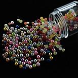 PearlBottle3 Fashion Women Nail Art 500pcs Multi Pearls Half Round Shape Different Size 1 Bottle in Party Decor