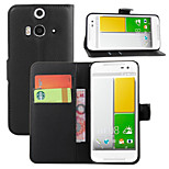 Litchi Around Open Bracket Leather Phone Wallet Card Suitable for HTC Butterfly 2 (Assorted Color)