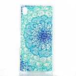 Blue and White Pattern Painted Transparent Frosted PC Material Phone Case for Sony Z4