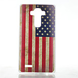 American Flag Pattern Transparent Frosted PC Material  Phone Case for LG G4