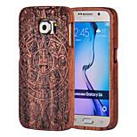 magi spider® carving træ materiale mønster beskyttende tilbage tilfældet med skærm protektor for Samsung Galaxy s6