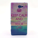 Smile Crown Pattern PC Hard Material Phone Case for Sony Xperia M2 S50h D2303 D2305