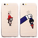 Lovely Cartoon Witch Hat Girl Pattern TPU Soft Case for iPhone 6/6S