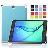 IVSO Ultra-Slim and Ultra-light High Quality PU Leather Folio Case Stand Cover for Galaxy Tab A 9.7 Tablet (Blue)