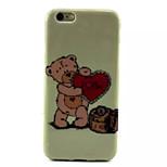 Bear Hug Heart Pattern TPU Soft Cover for iPhone 6