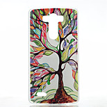 Colored Trees Pattern Transparent Frosted PC Material  Phone Case for LG G3
