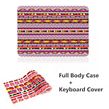 High Quality Colorful Bohemia Pattern PVC Full Body Case Cover and Keyboard Protective Flim for Macbook Air 13.3 inch