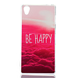 Red Cloud Pattern TPU Material Phone Case for Sony Xperia Z3