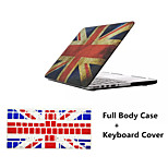 Top Selling Union Jack Pattern Full Body Hard Case with TPU Keyboard Cover for Macbook Pro 13.3 inch