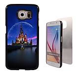 caso difícil castelo design em alumínio para Samsung Galaxy S6