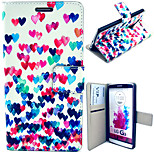 Colorful Heart Pattern with Card Bag Full Body Case for LG G3