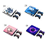 skin sticker dekking sticker voor ps3 playstation 3 slim + 2 controllers skins