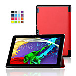 IVSO Lenovo Tab 2 A10 Case - Ultra Lightweight Slim Smart Cover Case with auto Up/Wake Function (Red)