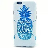 Pineapple Pattern TPU Material Soft Phone Case for iPhone 5C
