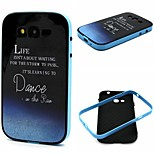 Letter Pattern TPU + PC Side Combo Phone Case For Samsung Galaxy Grand Neo I9060