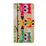 Magic Spider®Colorful Owl Pattern PU Full Body Case Stand with Screen Protector for Sony Z4