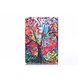 Oil Painting Maple PU Leather Full Body TPU Case with Card Holder for Ipad Air 2/Ipad 6