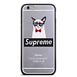 Fashion Bowout Glasses Cat Pattern Frame Back Cover for iPhone 6 Plus