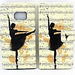 motif de danse gracieuse PU cas de téléphone en cuir pour le bord de samsung galaxy