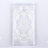 Datura Flowers Pattern Transparent Frosted PC Material Phone Case for Sony Xperia M2
