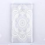 datura motif de fleurs étui transparent givré de téléphone matériel pc pour Sony Xperia m2
