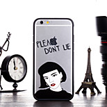 Girl Say Please Dont Lie Pattern Frame Back Cover for iPhone 6