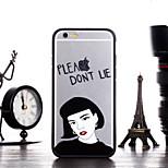 menina dizer por favor não padrão mentira enquadrar Capa para iPhone 6