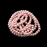 Beadia 3 Str(approx 430pcs) Glass Beads 6mm Round Imitation Pearl Beads Pink Color DIY Spacer Loose Beads