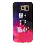 nu se opresc niciodata visezi model TPU caz moale pentru Samsung Galaxy s6
