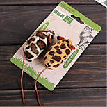 Pet Cat Toy Fashion Leopard Print Mouse Toy Set of 2 for Cats