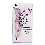 Feather Fly Pattern TPU Soft Case for Sony Xperia Z1 L39H C6903