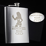 Personalized Gift 8oz Fashionista Design Stainless Steel Flask