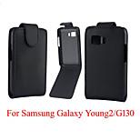 beschermende pu lederen magnetische verticale flip case voor Samsung jonge 2 G130 g130h