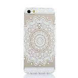 tampa traseira dura branca flor padrão de plástico para iphone5 / 5s