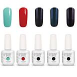 Gelpolish Nail Art Soak Off UV Nail Gel Polish Color Gel Manicure Kit 5 Colors Set S108