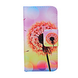 2015 The Newest Painted Dandelion Series Sunset Dandelion PU Soft Case for iPhone 6 Plus