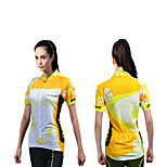 Quirell Women's Wicking Polyester Short Sleeve Cycling Type Function Top-Yollow